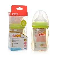 PIGEON 贝亲 自然实感 宽口径 PPSU 奶瓶160ml 绿色 配硅胶SS奶嘴 适合0月+ AA76