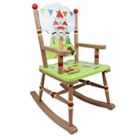 Fantasy Fields by Teamson Knights And Dragon Childrens Rocking Chair Kids Wooden Rocker Seat TD-11832A