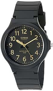 """Casio 卡西欧男式""""易读""""石英黑色休闲手表(型号:MW240-1B2V)"""