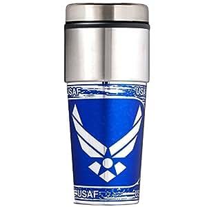 U.S. Air Force 453.59 毫升旅行杯带金属包装带徽章 (TTWM21268)