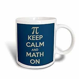 3drose evadane–趣语–KEEP CALM and 数学 ON–马克杯 白色 11-oz