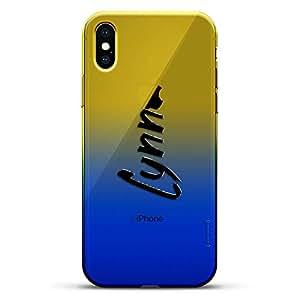 豪华设计师,3D 印花,时尚,高端,变色效果手机壳,适用于 iPhone Xs/X - 黄昏蓝小白色棒球图案LUX-IXCRM2B-NMLYNN1 NAME: LYNN, HAND-WRITTEN STYLE 蓝色(Dusk)