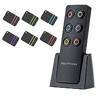 钥匙探测器,Kyerivs 无线 RF 物品定位器钥匙追踪器防丢失报警钥匙链,1 射频发射器和 6 个接收器,用于钥匙钱包宠物手机行李,小物品