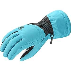 Salomon 萨洛蒙 FORCE W Blue Bird/Black 女式 手套 L39501000L 知更鸟蓝 L