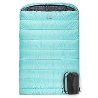 TETON Sports Mammoth 中號雙人睡袋;溫暖舒適;雙睡袋非常適合家庭露營;含壓縮袋