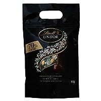 Lindt 瑞士莲 Lindor系列软心巧克力球 特浓黑巧克力 70% 81粒,1kg装