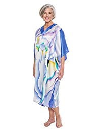 TexereSilk 女式 * 真丝和服睡衣 - 睡衣(鸢尾花)