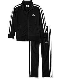 adidas 阿迪达斯 男童 针织夹克和裤子套装