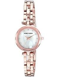 Anne Klein 女士施华洛世奇水晶点缀玫瑰金开口手链手表