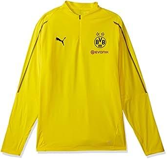 PUMA 男士 BVB 1/4 训练上衣,带海绵标志 F Cyber Yellow X-Large