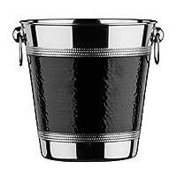 Premier Housewares 香槟桶 带锤锻带 - 不锈钢, 黑色 0507784