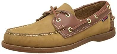 sebago 男式 endeavor 船鞋 Brown (Tan Nubuck/Leather) 8 UK