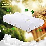 IONTEX泰国原装进口乳胶枕护颈椎双人成人枕头 (高低护颈枕)