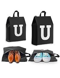 男女旅行鞋袋 - 个性化首字母 - 4 只装