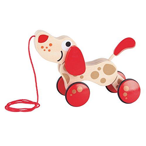 hape折叠狗可以拖拉玩具臻享红金纪念版拖拉学步变形的积木图片