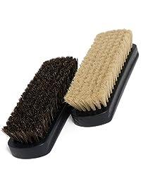 17.78 cm 马鬃鞋刷(2 件)- 2 色*为浅色和深色鞋或靴子制作