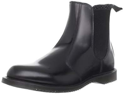 Dr. Martens 马丁大夫 女士 Flora Leather Chelsea 靴子 Black, 5 M US