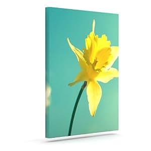 "Kess InHouse Robin Dickinson""Daffodil""户外帆布墙艺术 16"" x 20"" RD1015AAC03"