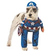 Rubie's Marvel 美国队长宠物服装 如图所示 大