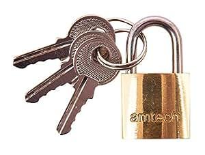 Amtech T0800C 黄铜挂锁,20 毫米