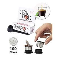 可重复使用的咖啡胶囊 - 海伦堡不锈钢可填充 Nespresso 机芯(兼容原始线)(2,100 个盖)