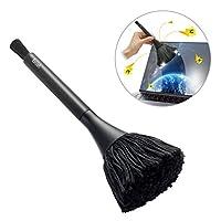 Elecom 宜丽客 静电消除刷 旋转型 黑色 KBR-AM013AS 带除尘刷
