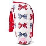 奶瓶盒 薄 奶瓶袋 外出 日本制造 波点和条纹法式丝带(透明底色·象牙色) B2104400