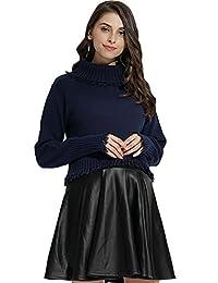 孕妇和哺乳*棉针织高翻领自由合身毛衣