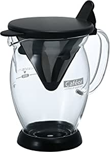 HARIO 好璃奥 日本原装进口 咖啡壶滴滤式咖啡冲泡一体壶 二人份CFO-2B 黑色 300ml