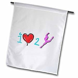 MARK Andrews zegear 舞蹈–I LOVE TO Dance–旗帜 12 x 18 inch Garden Flag