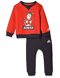 adidas Kids 阿迪达斯 男童 小童针织套服 CV8920 浅猩红/白 LK XMAS CREW