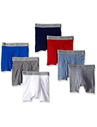 Hanes 男孩7件装染色平角内裤