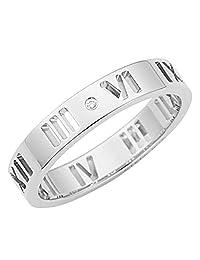 TIFFANY 蒂芙尼 钻石0.01ct 18KWG 白金 ATLUS 戒指 カラー-シルバー