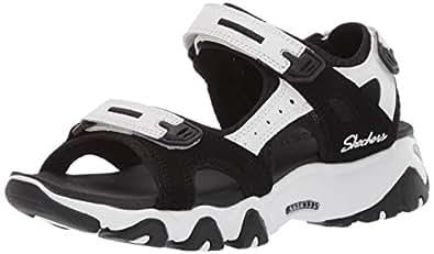 Skechers 斯凯奇 SKECHERS D'LITES 2.0系列 女 绊带时尚凉鞋 32999-BKW 黑色/白色 36 (US 6)