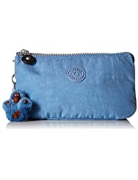 Kipling Creativity Large, Multi Compartment Pouch with Zip Closure, Dream Blue
