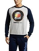 adidas NEO 阿迪达斯运动生活 EXPLORE SPACE 男式 运动帽衫卫衣 AY9934