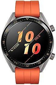 Huawei 华为 Watch GT 智能手表 (AMOLED 触摸屏,GPS,健身跟踪,心率测量,5 ATM防水)55023804 Watch GT Active 46mm 橙色