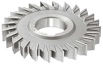 "KEO Milling 84559 直齿铣刀,""B""风格,13/16""宽度,1-1/4""轴孔,24 齿,2-1/2""切割直径,HSS,TiCN 涂层,标准切割"