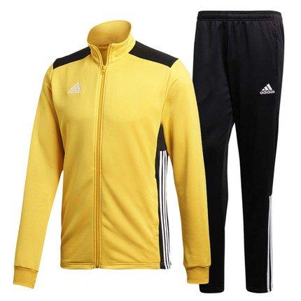 a5a8bd364d1d3 adidas 阿迪达斯Regista 18 男士聚酯纤维西装,训练套装bold gold/Black