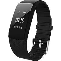 Rorsche 智能手环 心率检测、血氧检测、疲劳度 时尚运动健康手环 运动计步睡眠监控 运动时尚外观 (A89 黑色)