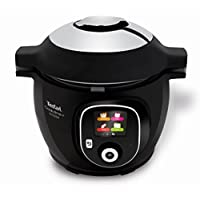 Tefal CY855840 Cook4Me+ Connect Intelligent Multicooker, LCD Screen, 200+ Recipes, Bluetooth Connected, Black