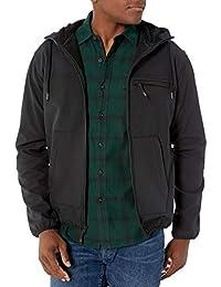 Hawke & Co 男士全拉链羊毛高科技软面连帽外套