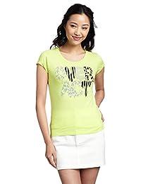 i.t b+ab 女式 短袖T恤 短袖T恤 不规则印花 字母 棉 经典内搭 BCXTEAJ0575XXWHX038