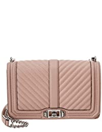 Rebecca Minkoff Chevron Quilted Large Leather Crossbody, Red