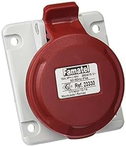 famatel 23330 – 底座墙壁连接弧度 3P + T 16 A 380 V IP44