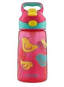 Contigo Autospout Striker Kids Water Bottle, 14-Ounce, Cherry Blossom