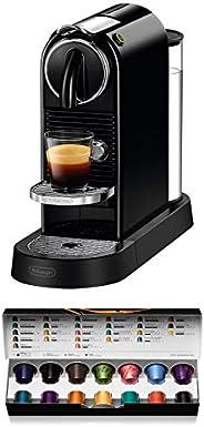 De'Longhi 德龙 Nespresso Citiz EN167.B 胶囊咖啡机,高压泵和理想的热温控制,无需Aeroccino(牛奶起泡剂),节能功