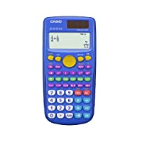 CASIO 卡西欧 fx-55 PLUS 小学/中学分数计算器,Blue