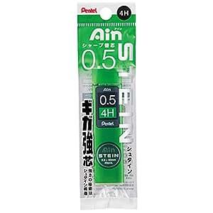 派通 自动铅笔芯 爱因芯 STEIN 5个 4H 0.5mm 黑色