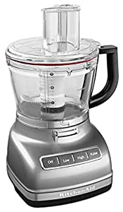 KitchenAid KFP1466CU 14-Cup Food Processor with Exact Slice System and Dicing Kit - Contour Silver 需配变压器